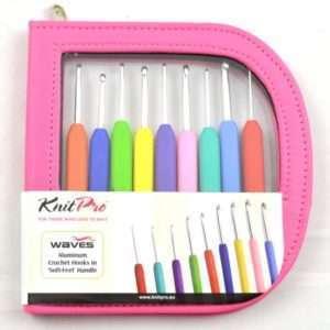 Knit Pro Waves Crochet Hook Set - Pink Case