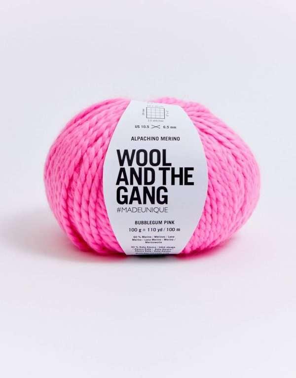 Wool and the Gang | Alpachino Merino | Bubblegum Pink Wool