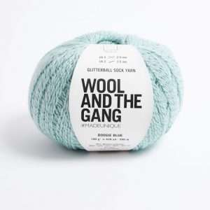 Wool and the Gang | Glitterball Sock Yarn | Boogie Blue