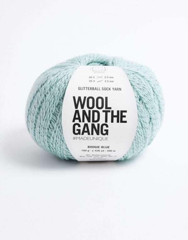 Wool and the Gang | Glitterball Sock Yarn | Boogie Blue