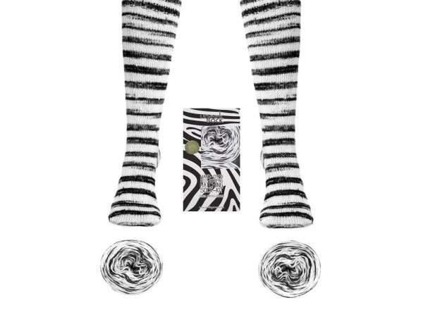 Urth Yarns | Uneek Sock | Zebra Limited Edition