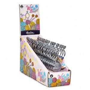 Box of scirssors shaped like balls of yarn