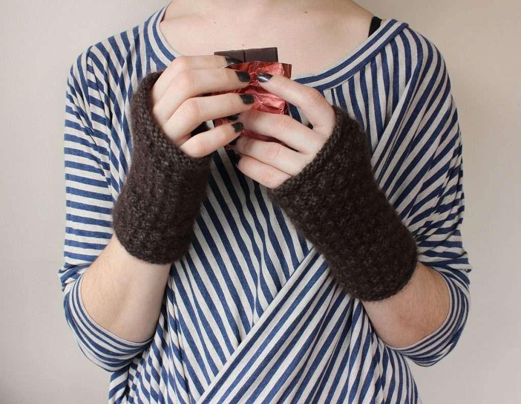 Luxury Knitted Gift: Zealana Chocolati Mitts