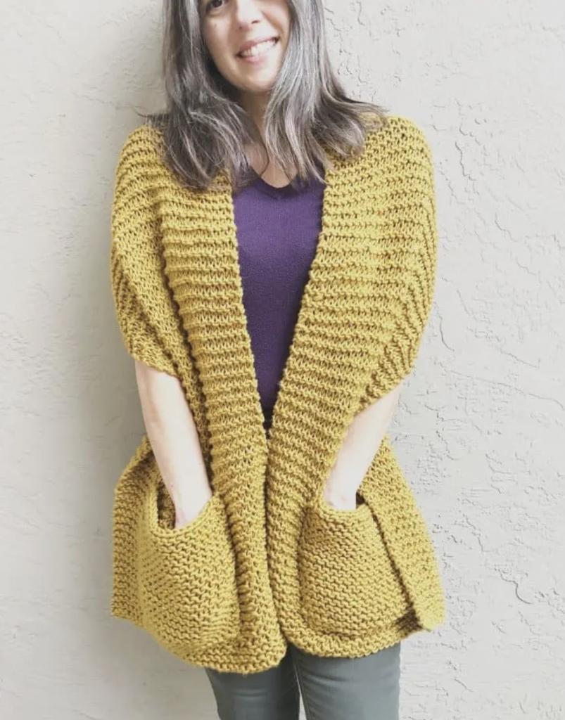 Giana Shawl: Pocket scarf pattern by ChristaCo Designs
