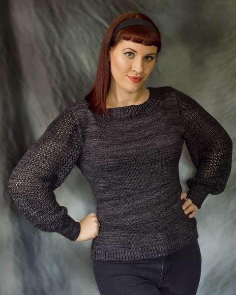 Morticia sweater by Andi Satterlund in gray