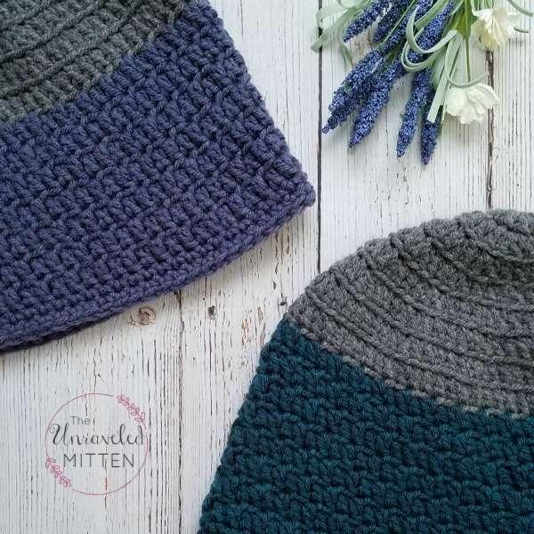 Rapids Beanie crochet hat pattern