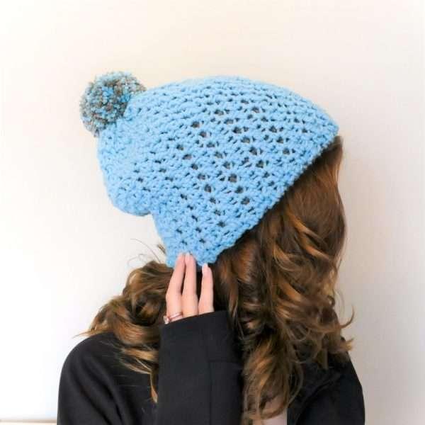 Reversible Double-Thick Beanie Crochet hat pattern