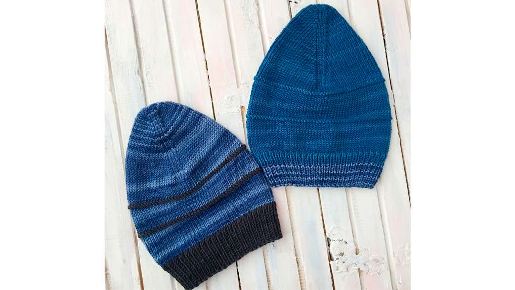 Slouchy Long Hat pattern made with Urth Harvest Worsted yarn