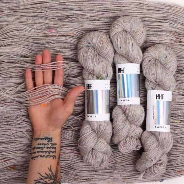 Tweedy yarn by Hedgehog Fibres