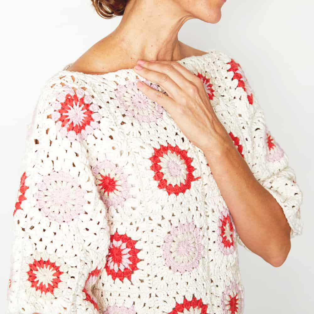 Granny Square Sweater pattern by Ideal Me