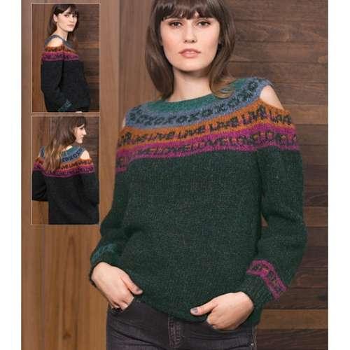 Cold Shoulder Yoke Pullover sweater pattern