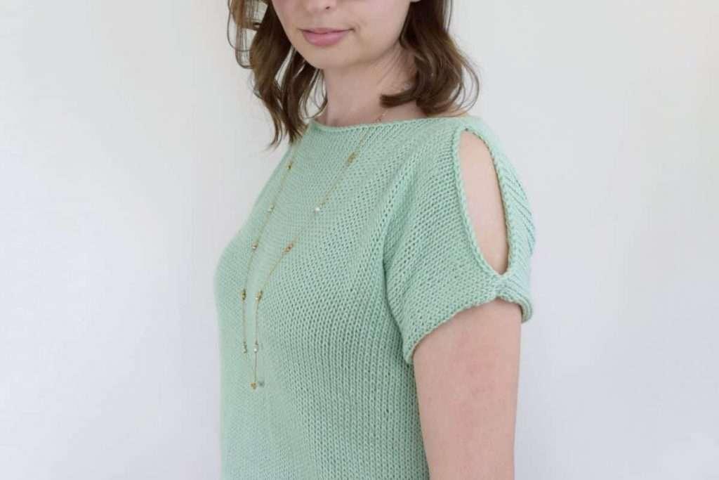 Peek a Boo Tee by Knifty Knittings
