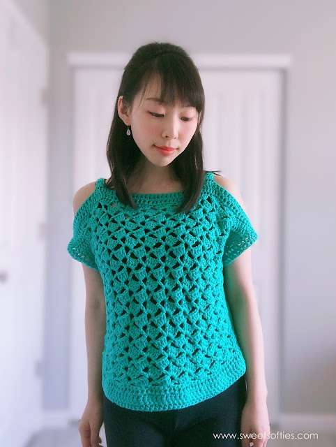Cabana Cold Shoulder Top pattern from Sweet Softies