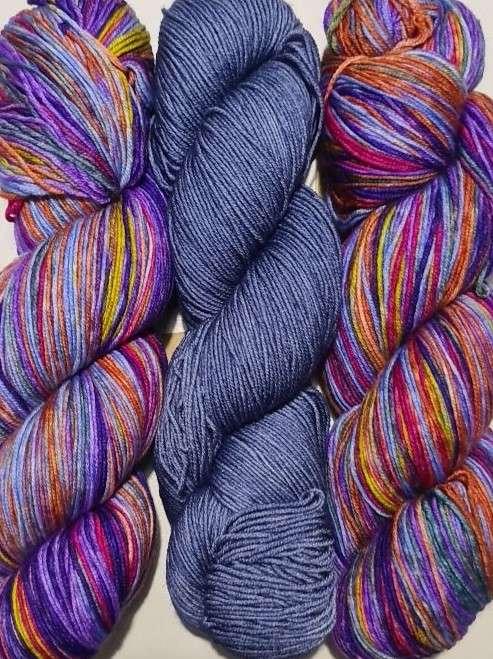 Uneek Fingering 3024 and Harvest Fingering Cosmic Purple Carrot